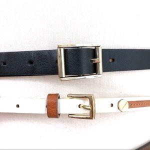 2 sets Belts Ann Taylor Genuine Leather+unbranded